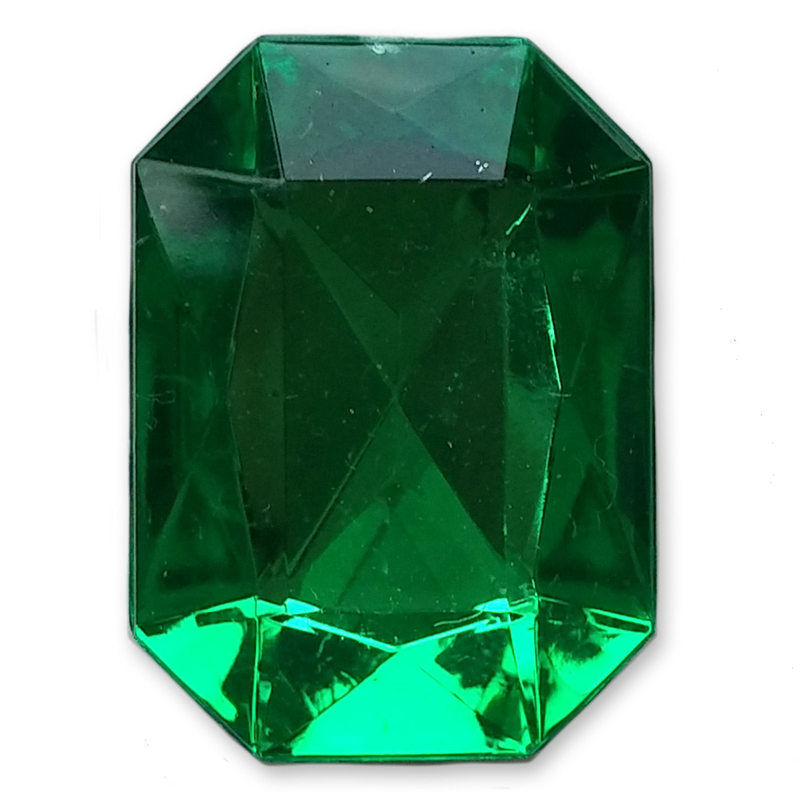 p emerald asp acrylic embellishments shape green gem x