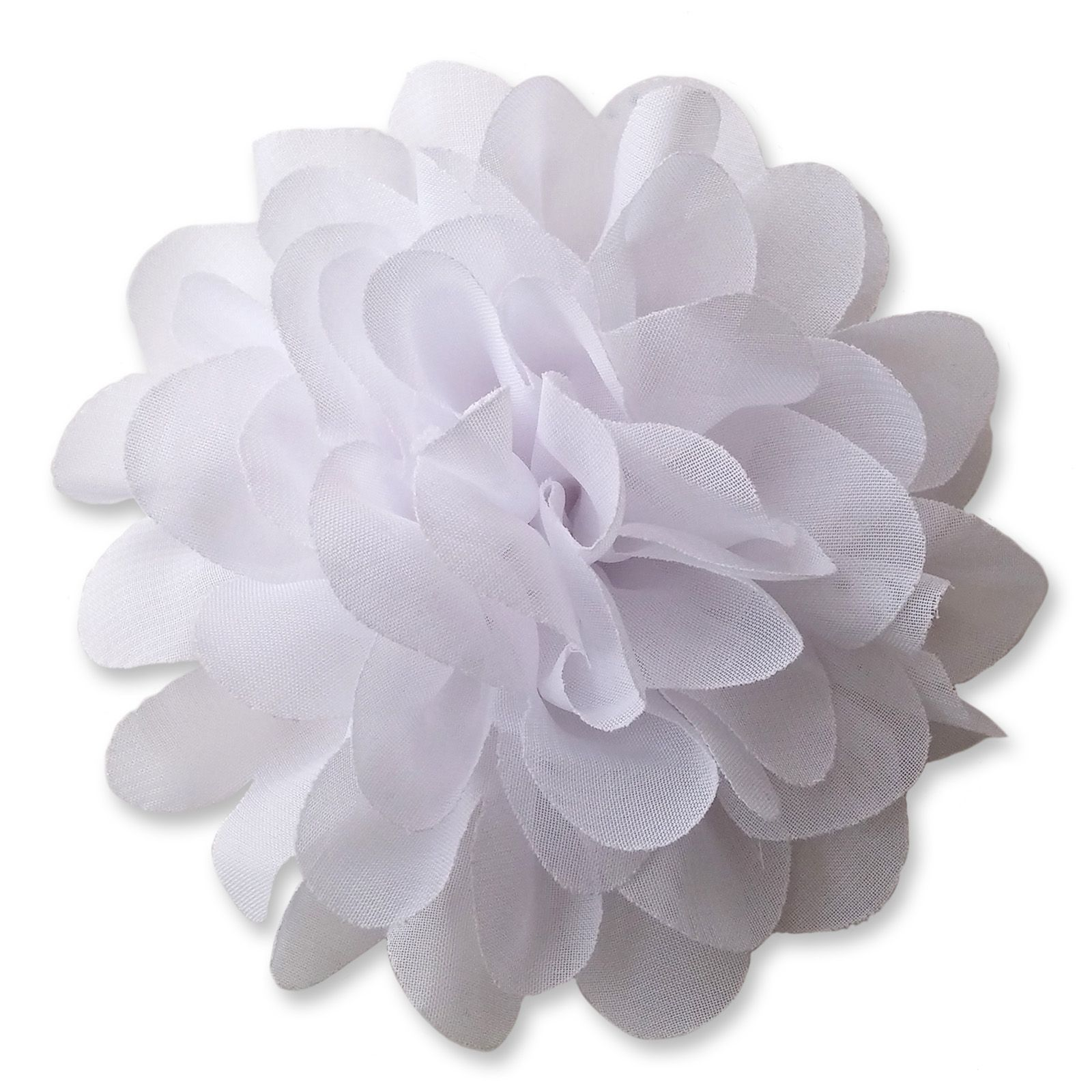 10cm pompom bloom white fabric flower applique mightylinksfo