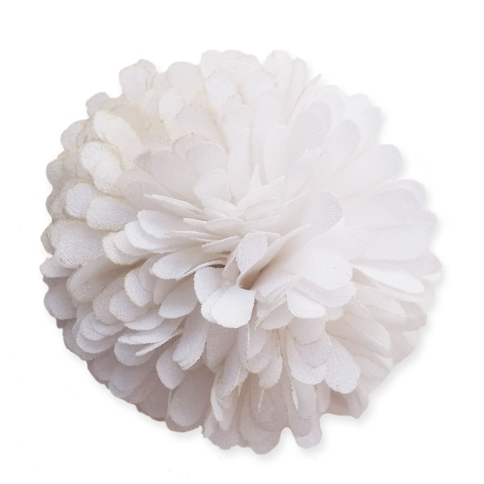 6cm marigold pompom white fabric flower applique mightylinksfo