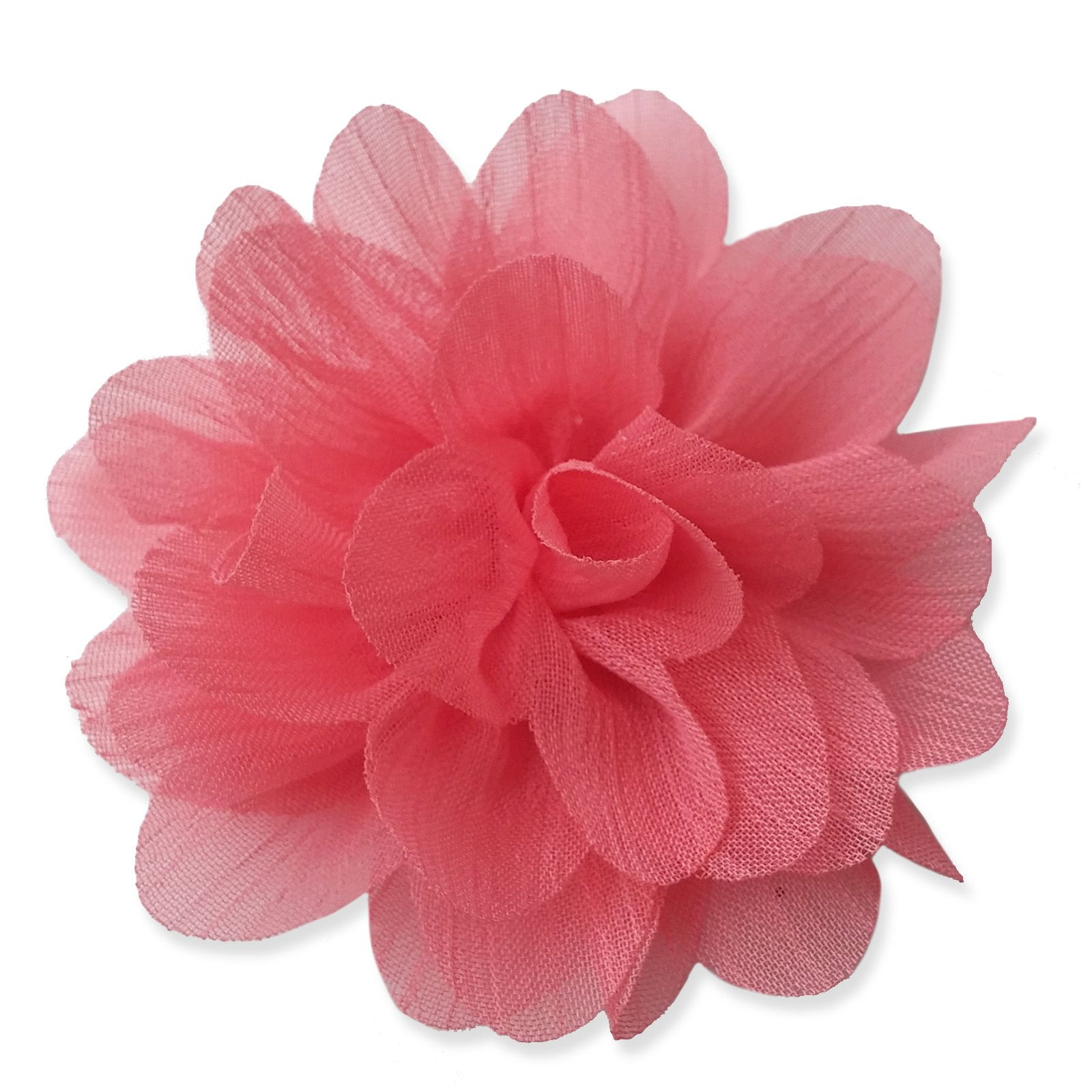 7cm Lily Blush Pink Fabric Flower Applique