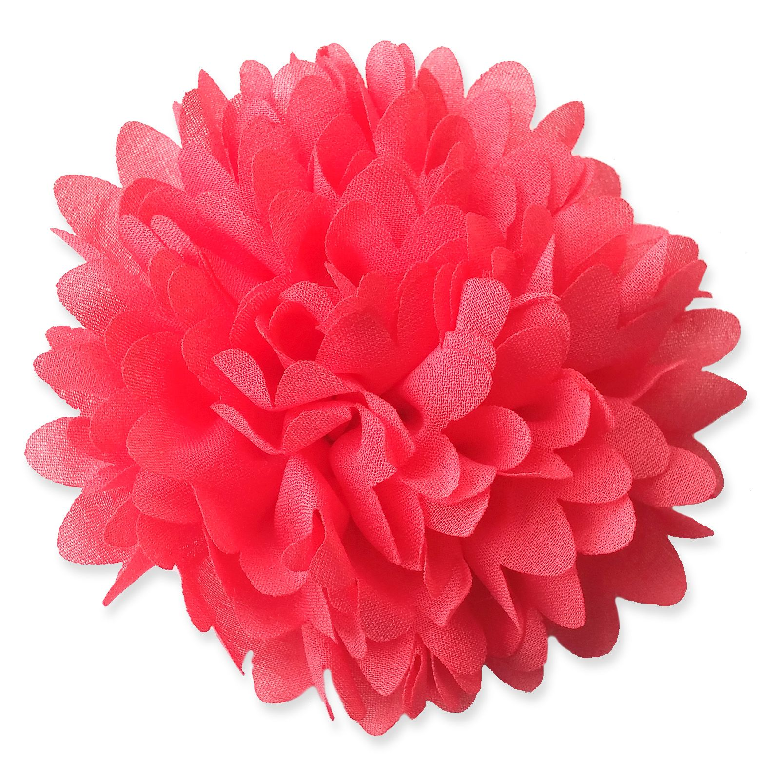 8cm Chrysanthemum CORAL PINK Fabric Flower Applique